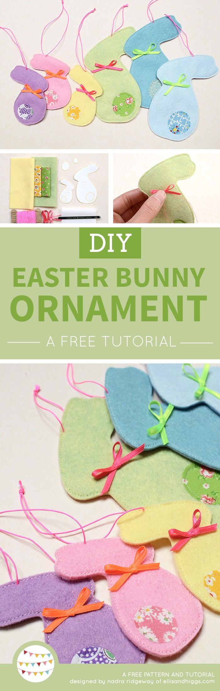Osterhasen Anhänger aus Filz und Stoff / Felt and Fabric Easter Bunny Ornaments