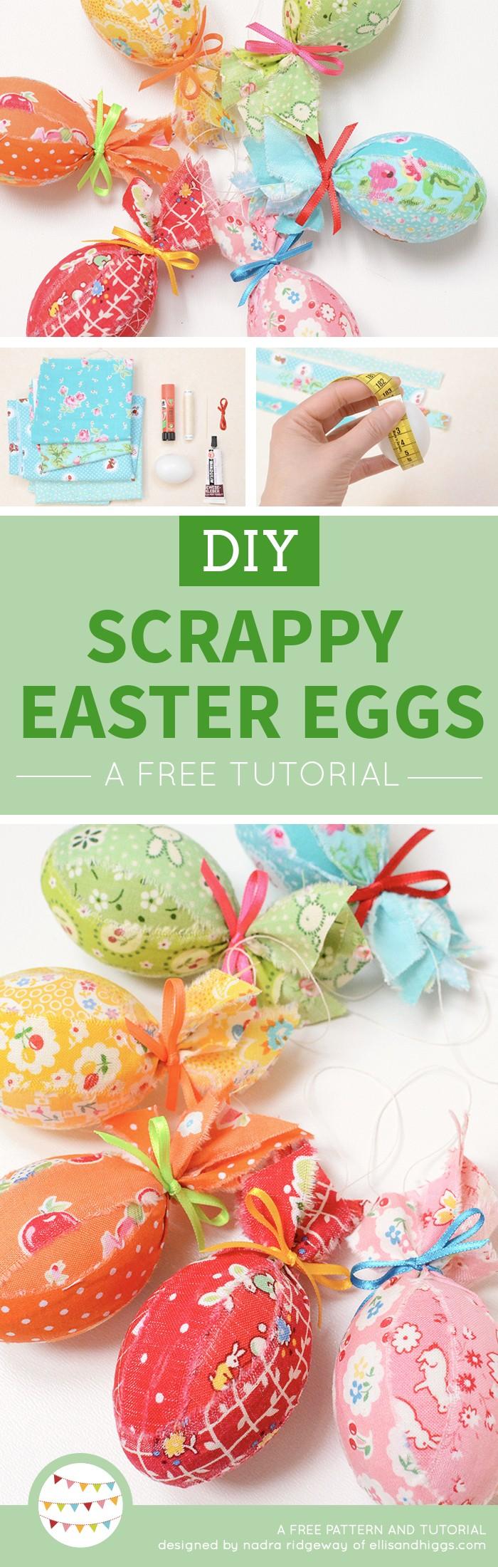 Ostereier Anhänger aus Stoff / Scrappy Fabric Easter Eggs