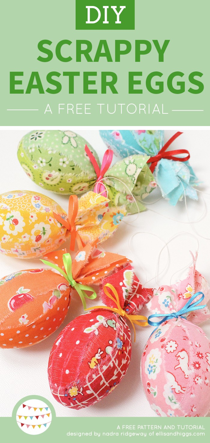 Ostereier Anhänger aus Stoff / Scrappy Fabric Easter Eggs