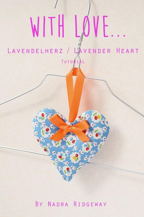 Tutorial: ein Lavendelherz nähen