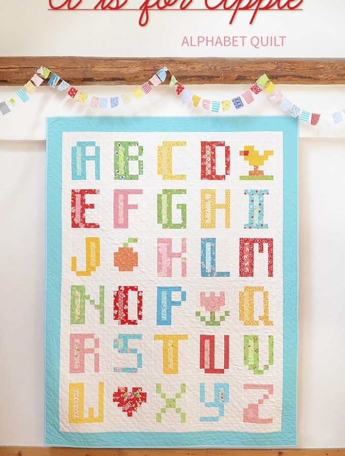 A is for Apple Alphabet Quilt Pattern by ellis & higgs