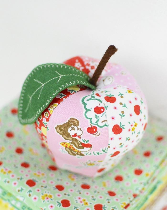 Apple Farm by Elea Lutz for Penny Rose Fabrics, Apple Pincushion Pattern by Kim Kruzich of Retro Mama