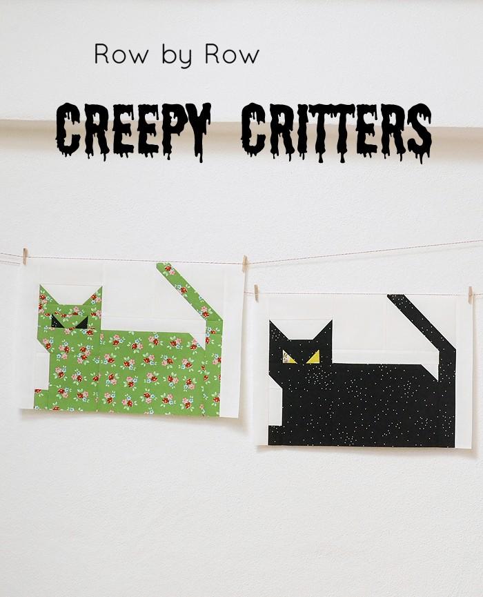 Halloween Cat Quilt Block by ellis & higgs