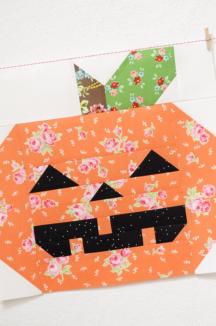 Halloween Pumpkin Quilt Block