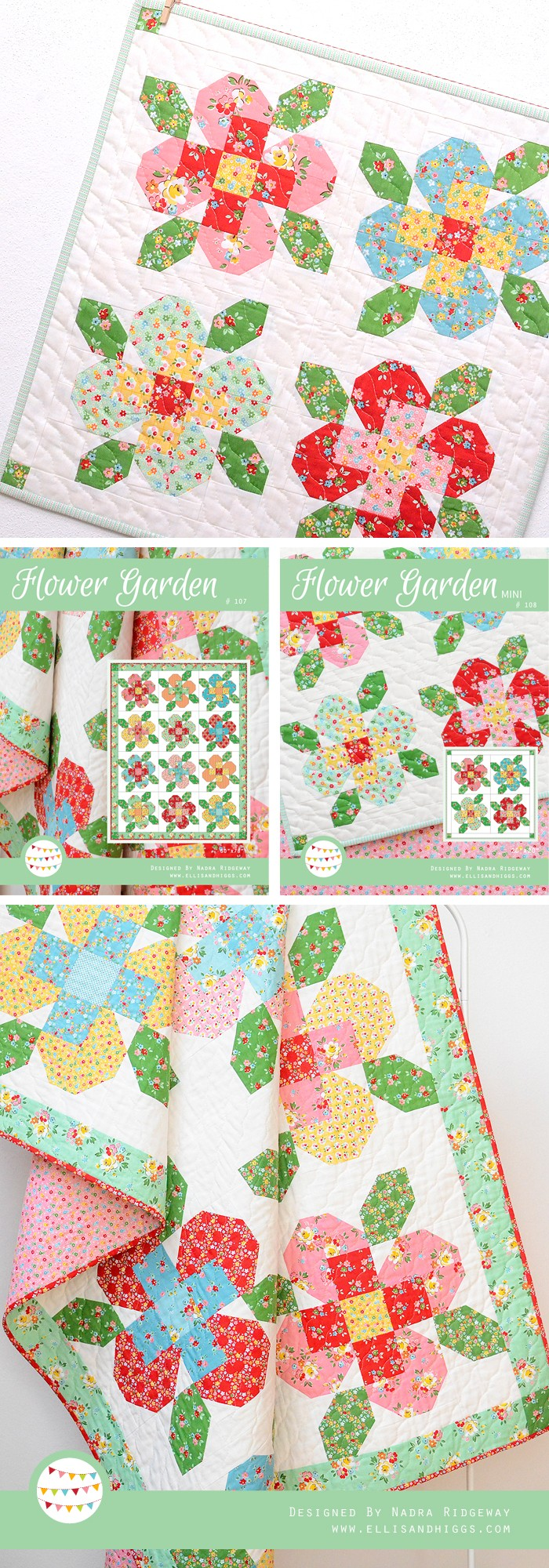 Flower Garden Quilts by Nadra Ridgeway