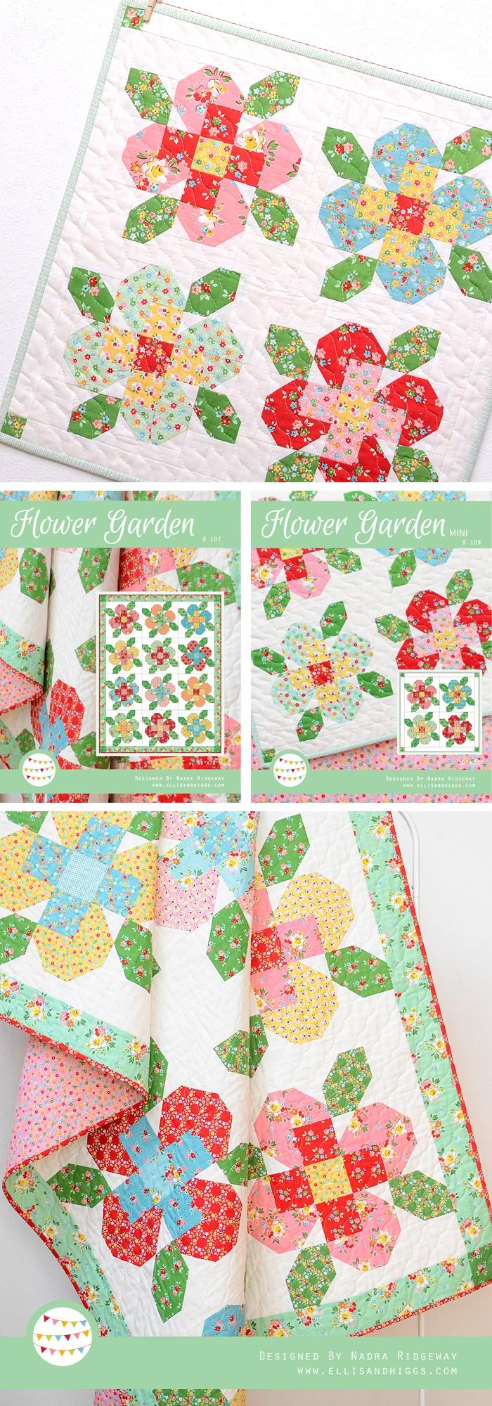 Flower Garden Quilts by Nadra Ridgeway
