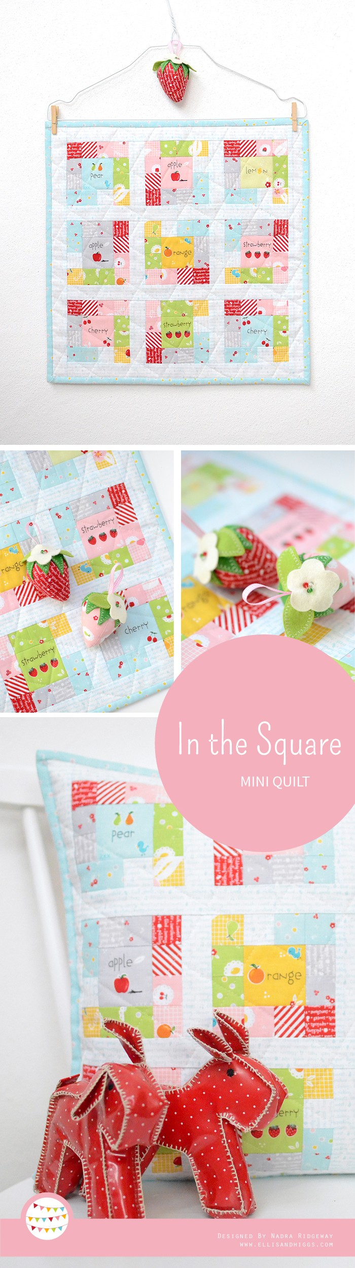 In the Square Mini Quilt Pattern by Nadra Ridgeway