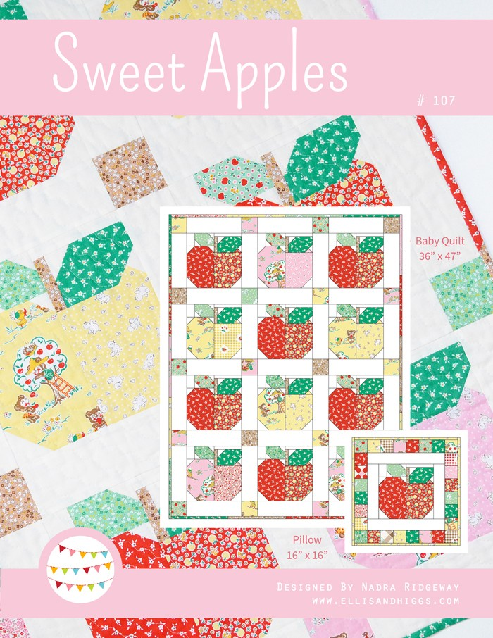 Sweet Apples Baby Quilt and Pillow Pattern by ellis & higgs
