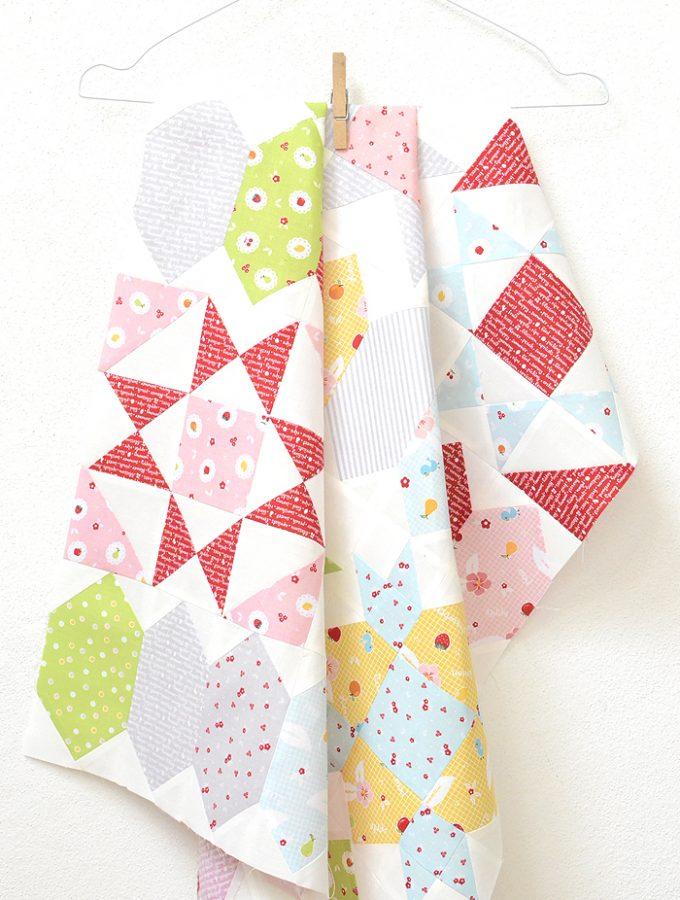 Sweet Stars Sew-Along – Quarter Square Triangles