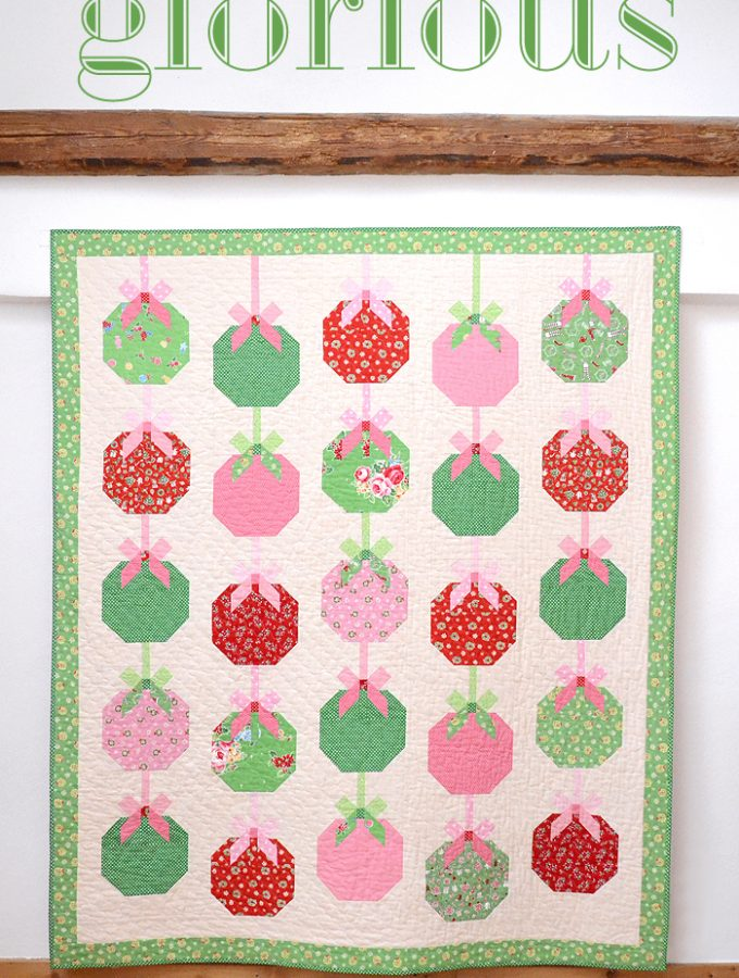 New Pattern: Christmas Ornament Quilt  – And A Giveaway!