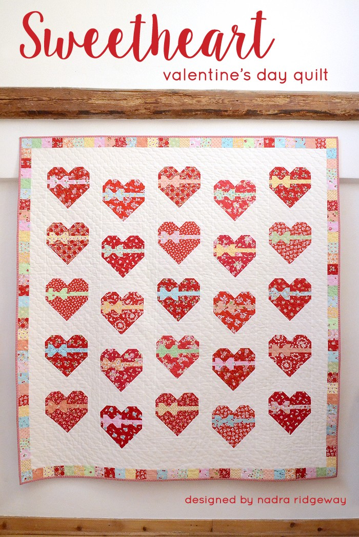 Sweetheart Quilt Pattern by Nadra Ridgeway of ellis & higgs