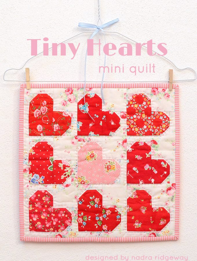 New Pattern: Tiny Hearts Mini Quilt