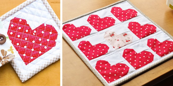 Tiny Hearts Mini Quilt Pattern by Nadra Ridgeway of ellis & higgs