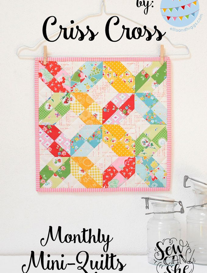 A free mini quilt pattern + Riley Blake Giveaway