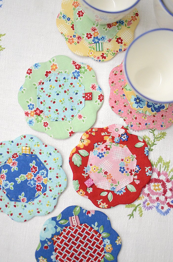 Arbor Blossom Blog Tour - Quilted Petal Coaster Tutorial by Nadra Ridgeway