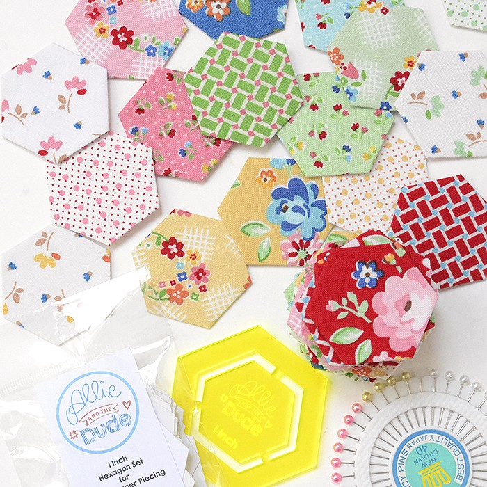 English Paper Piecing -Allie and the Dude Arbor Blossom Hexagons