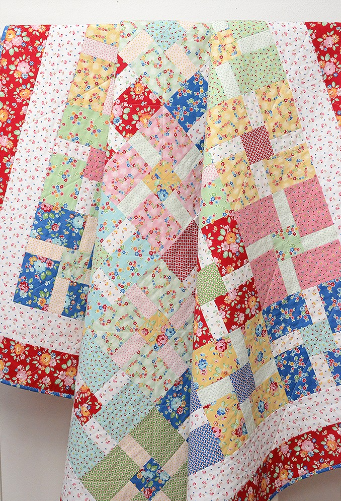 New Quilt Patterns: Blossom Fields Pattern by Nadra Ridgeway of ellis & higgs