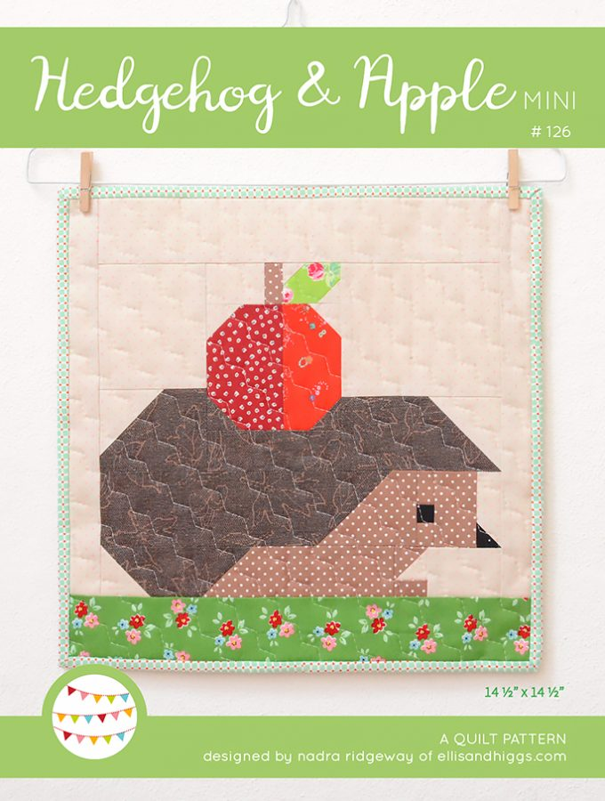New Fall Patterns: Hedgehog & Apple Mini Quilt