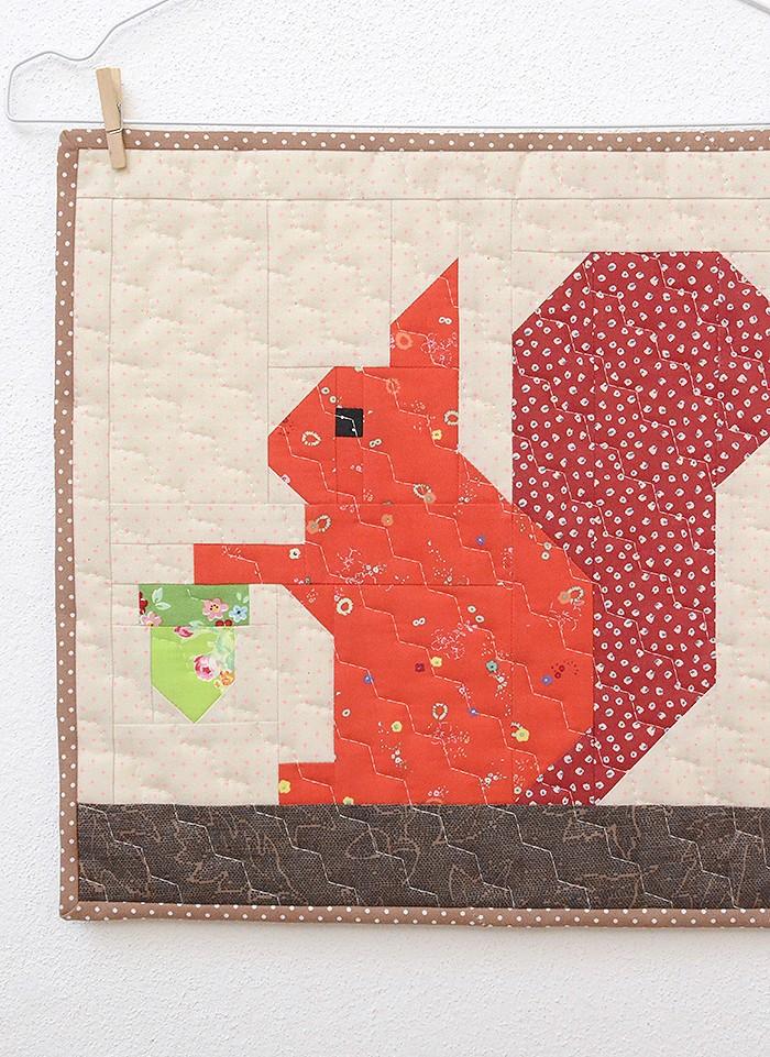 Little Squirrel Mini Quilt Pattern by Nadra Ridgeway of ellis & higgs