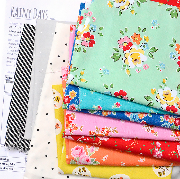 Rainy Days Mini Quilt - a pattern by Nadra Ridgeway of ellis & higgs