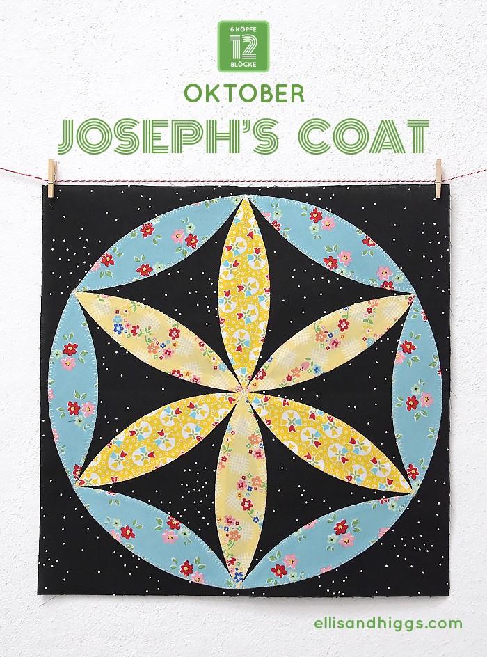 6 Koepfe 12 Bloecke Oktober Block Joseph's Coat von Nadra Ridgeway von ellis & higgs