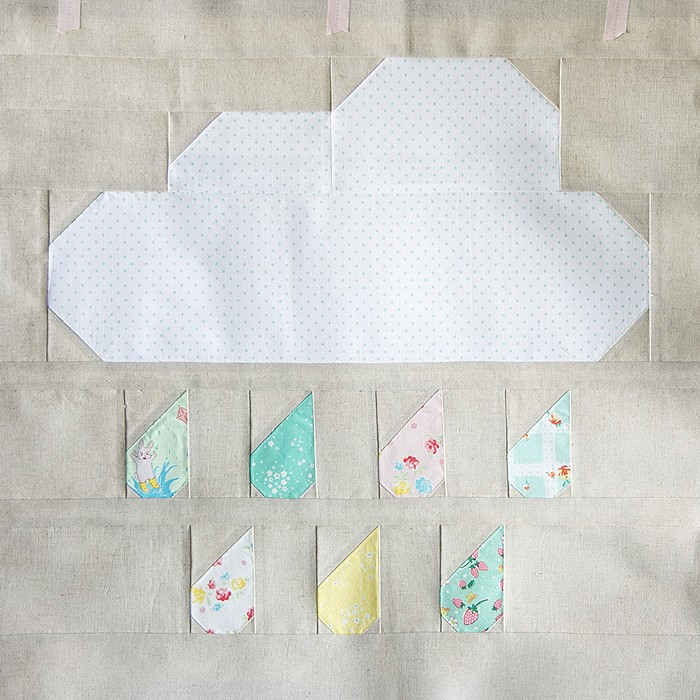 Rainy Days Mini Quilt - Lauren