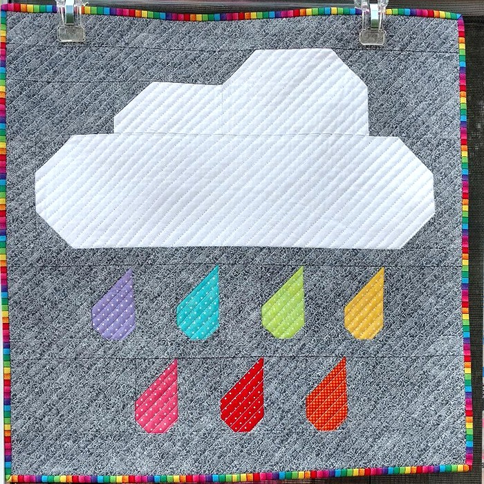 Rainy Days Mini Quilt - Madonna