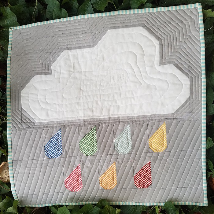 Rainy Days Mini Quilt - Shelley