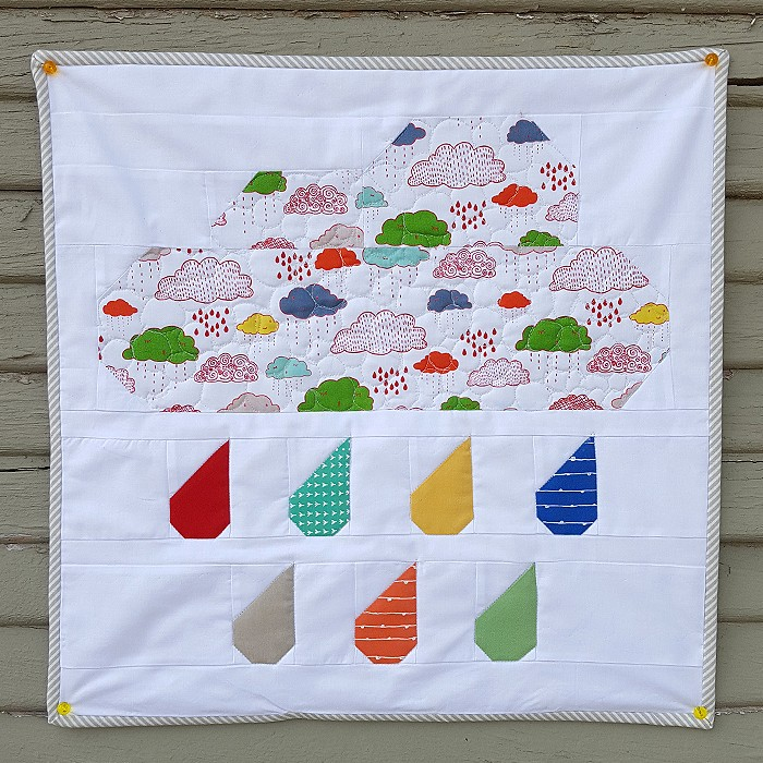 Rainy Days Mini Quilt - Stephanie