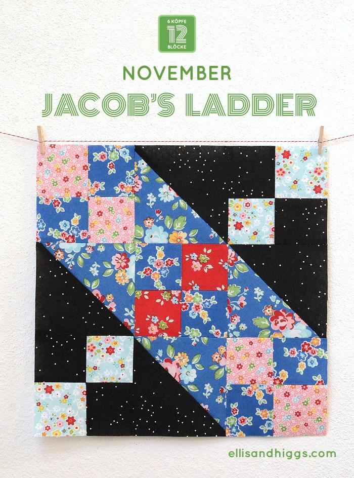 6 Koepfe 12 Bloecke November Block Joseph's Coat von Nadra Ridgeway von ellis & higgs