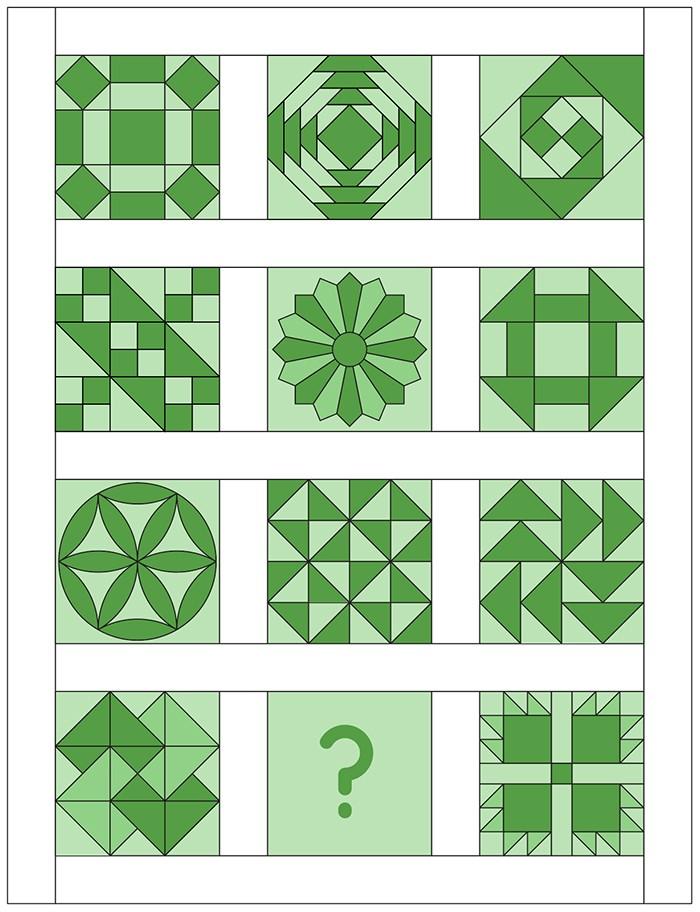 6 Koepfe 12 Bloecke Quilt Layout von Nadra Ridgeway von ellis & higgs