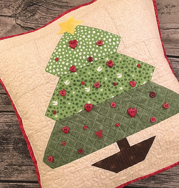 Under the Tree Quilted Pillow by Nadra Ridgeway of ellis & higgs