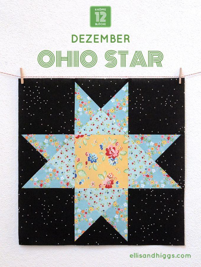 6 Köpfe 12 Blöcke Dezember Block – Ohio Star