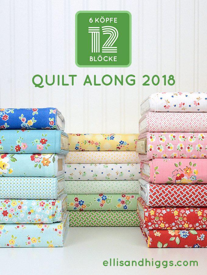 Ein zweites Jahr mit dem 6 Köpfe 12 Blöcke Quilt-Along!