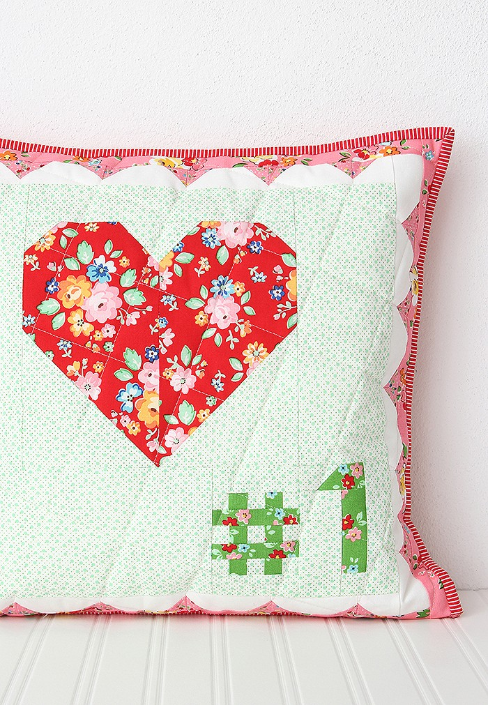 My Number One - Valentine's Day Pillow Pattern by Nadra Ridgeway of ellis & higgs