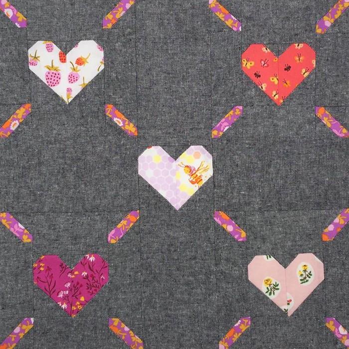 Love Is All Around - Valentine's Day Quilt Pattern by Nadra Ridgeway of ellis & higgs