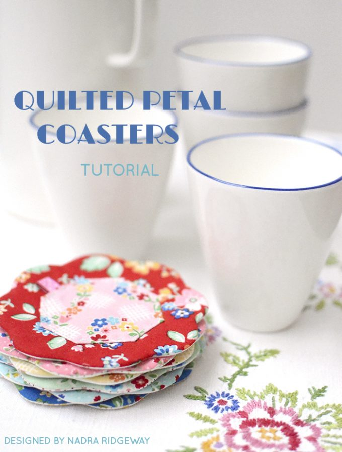 Petal Coasters Tutorial by Nadra Ridgeway of ellis & higgs