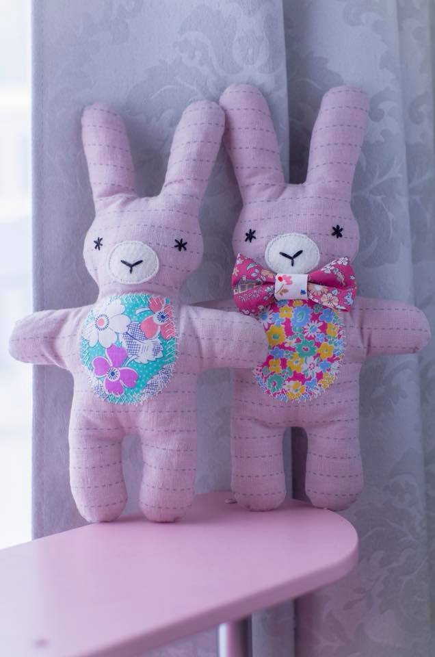 Three Little Friends Bunny Bear and Lambkin Softie Pattern