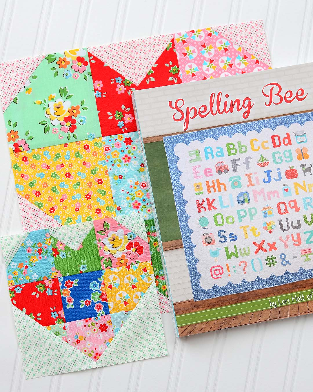 Spelling Bee Sew Along Heart Quilt Blocks by Nadra Ridgeway of ellis & higgs