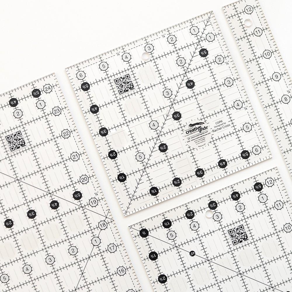 Creative Grids Patchwork Lineal, Creative Grids Patchwork Quilting Ruler. Patchwork & Quilting Basics - Patchwork-Zubehör