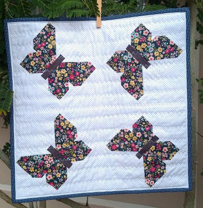 Butterfly Mini Quilt Pattern by Nadra Ridgeway of ellis & higgs