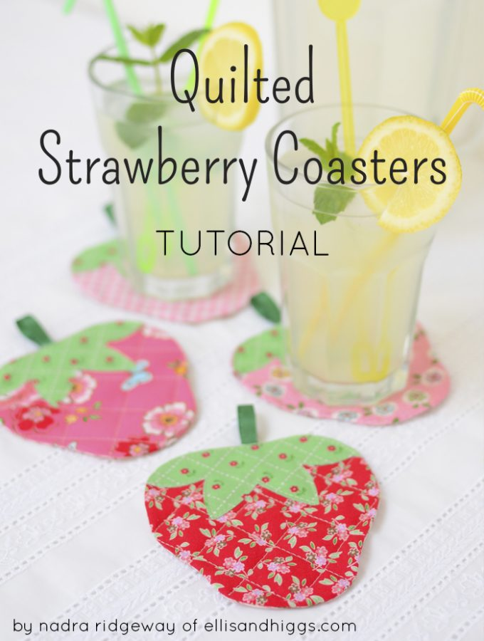 Quilted Strawberry Coasters Tutorial – Guest Post