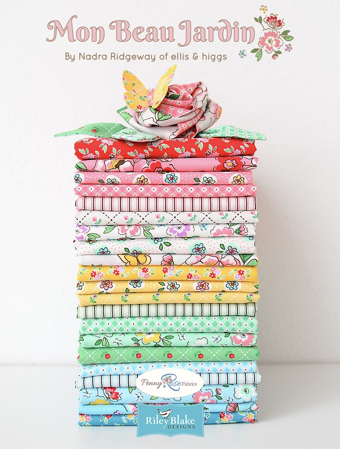 Mon Beau Jardin by Nadra Ridgeway of ellis & higgs for Penny Rose Fabrics
