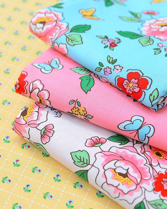 My new fabric line Mon Beau Jardin is here! By Nadra Ridgeway of ellis & higgs for Penny Rose Fabrics / Riley Blake Designs