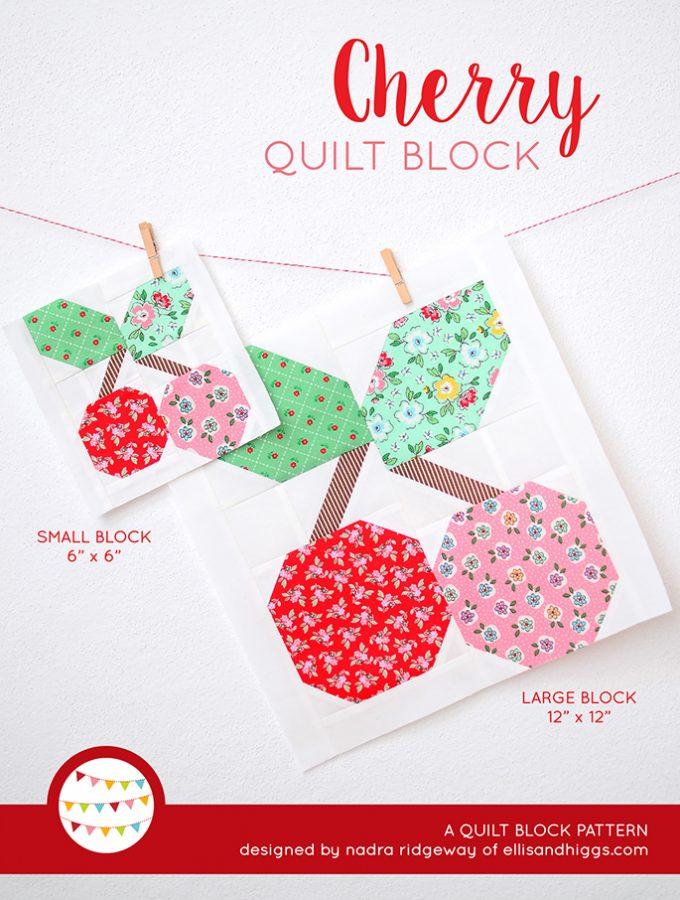 Cherry Quilt Block Pattern by Nadra Ridgeway of ellis & higgs