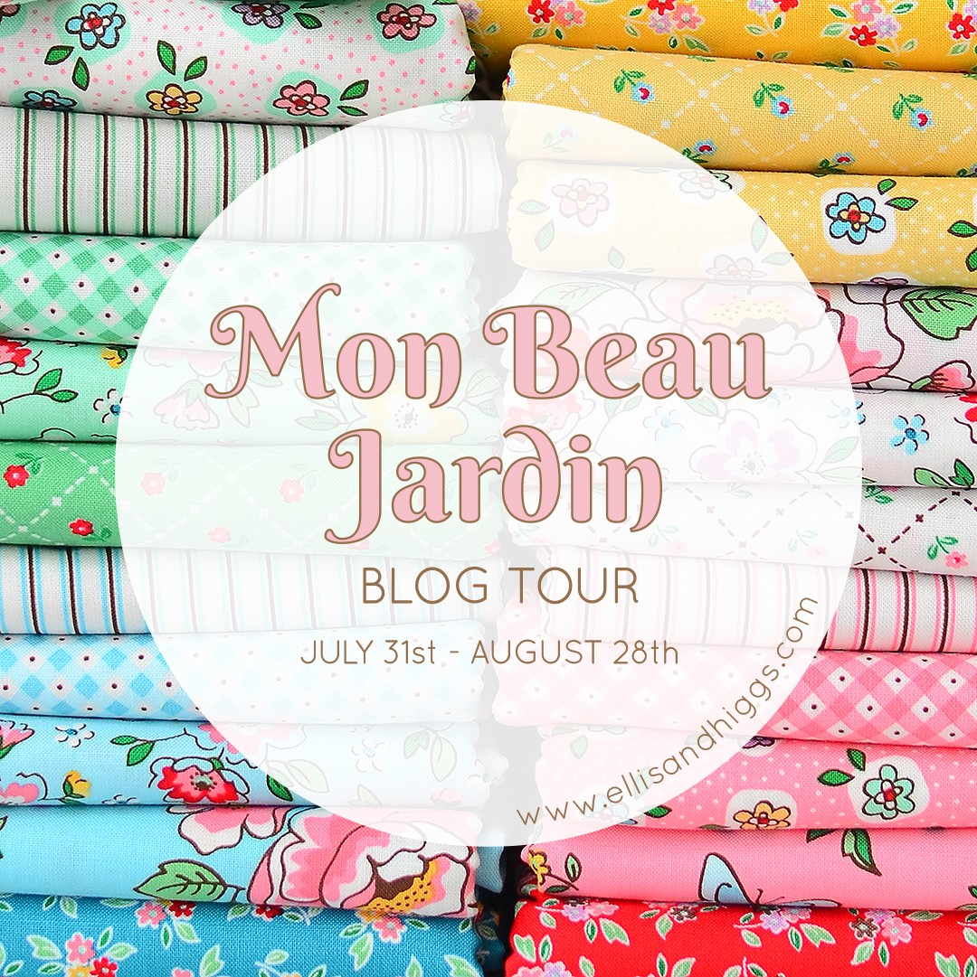 Mon Beau Jardin Blog Tour - Hexie Flower Cushion by Ange of A Little Patchwork