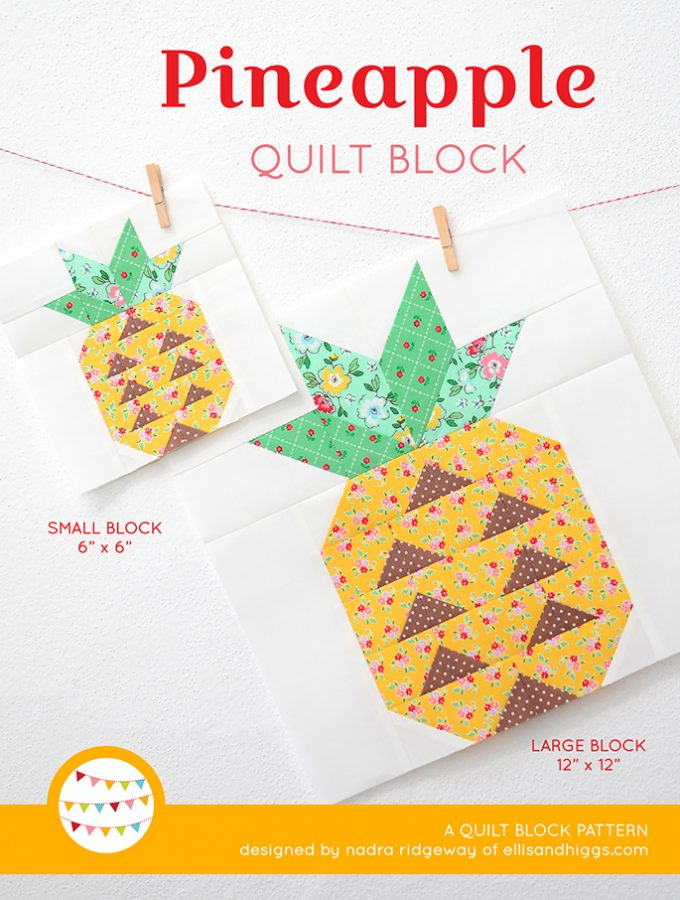 New Pattern – Pineapple Quilt Block