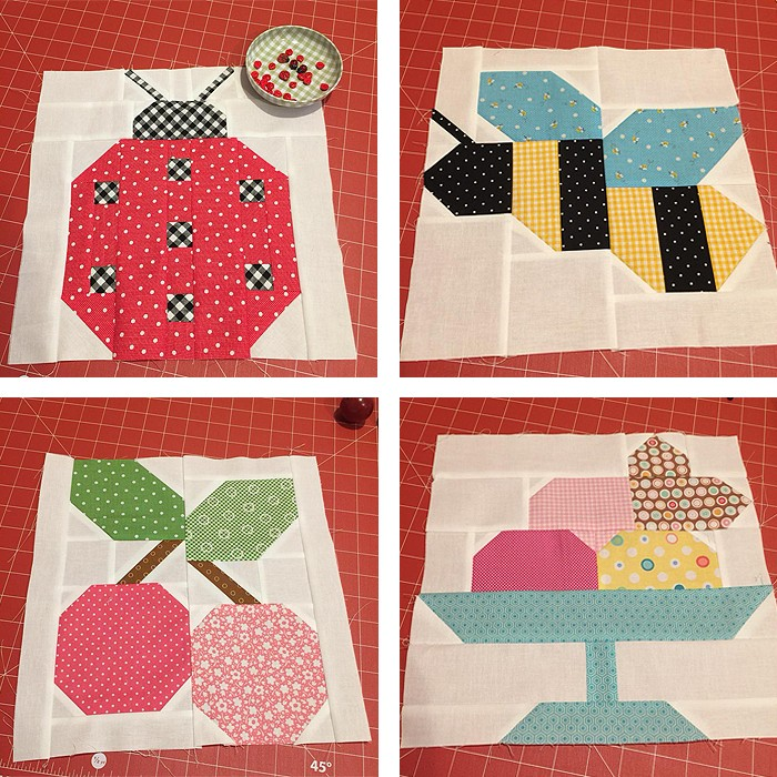 Ice Cream Sundae Quilt Block Pattern by Nadra Ridgeway of ellis & higgs