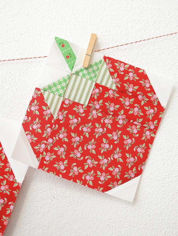 Strawberry Quilt Block Pattern by Nadra Ridgeway of ellis & higgs