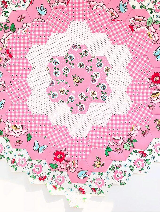 Mon Beau Jardin Blog Tour – Hexie Flower Cushion